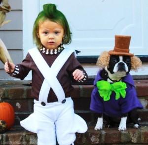 willy wonka and oompa loompa costume